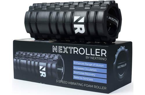 NextRoller 3-Speed Vibrating Foam Rollers -Electric Back Massager