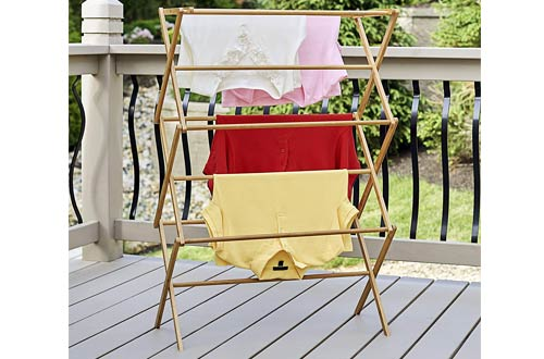 Household EssentialsTall Indoor Folding Wooden Clothes Drying Racks