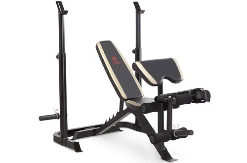 Marcy Adjustable Olympic Weight Benches with Leg Developer and Squat Rack