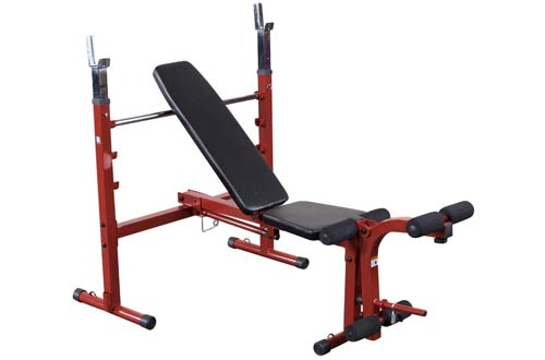 Body-Solid Best Fitness Adjustable Olympic Folding Weight Benches for Home Gym
