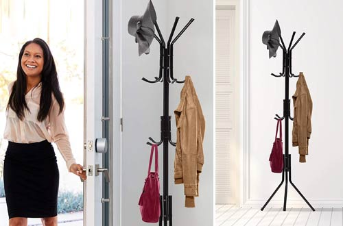 OxGord Free-Standing Metal Coat Stands for Home & Office