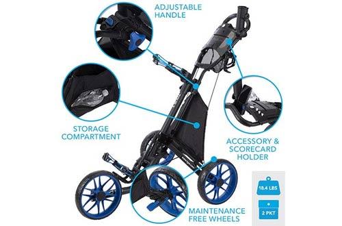 TGW Tour 3-Wheel Golf Push Carts