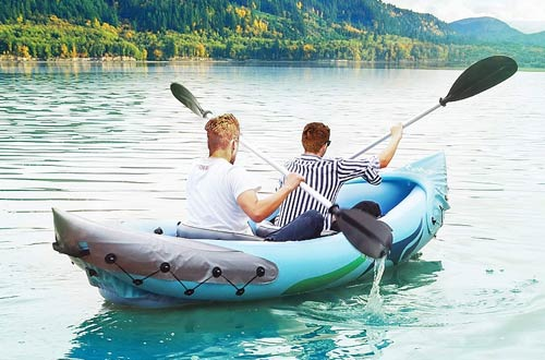 Ztotop 2-Person Inflatable Kayak Set with Inflatable Boat