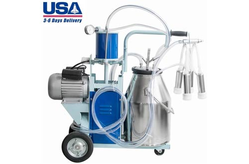 14L Plug in Pulse Type Single Bucket Piston Vacuum Ultra-Strong Frequency Pulsation Milking Machine for Cow