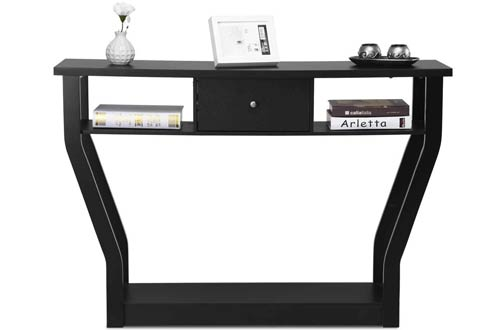 Best Wooden Console Table - Modern Entryway Console Table with Drawers