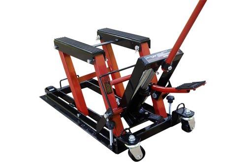 VIVOHOME Steel Hydraulic Motorcycle Lift - ATV Jack Hoist Stand