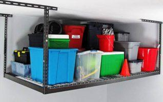 MonsterRax 4x8 Garage Overhead Rack - 500 LB Adjustable Ceiling Mounted Shelving Rack