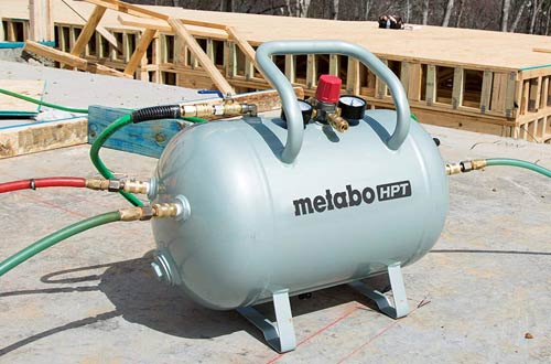 Metabo HPT 10 Gallon Air Tank - Five Quick Connect Couplers