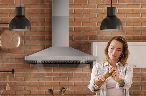 Cosmo 30-Inch Kitchen Wall-MountStainless SteelRange Hoods