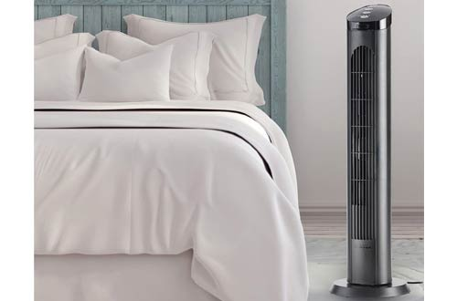 Cascade 40-Inch Tower Fans for Bedroom with Remote