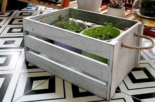 SLPR Decorative Storage Wooden Crates
