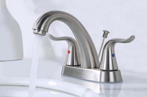 WOWOW 2-Handle Centerset Bathroom Sink Faucets