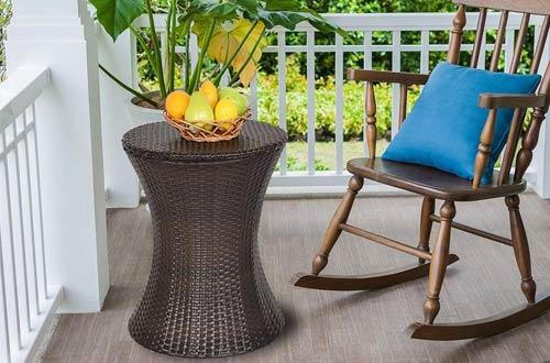 Giantex Rattan Patio Cooler Tables