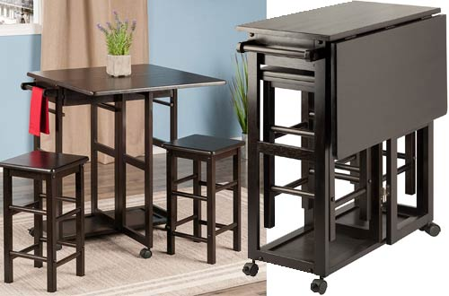 Winsome Suzanne Space Saving Drop Leaf Kitchen Table