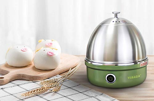 VOBAGA Electric Egg Cookers with Stainless Steel Rack Tray Basket