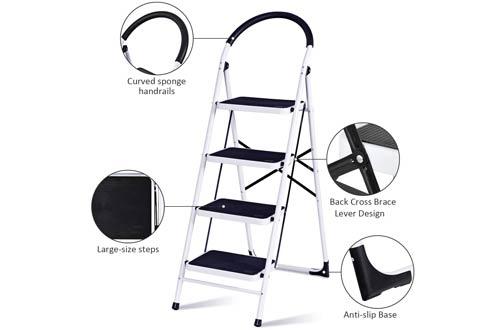 GiantexFolding Step Stools - Portable Multipurpose Ladder for Home Kitchen
