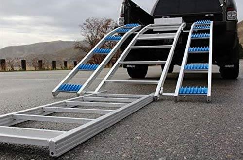 Rev Arc Bosski Tri-Fold Snowmobile Ramps for Truck