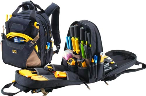 CLC Custom Leathercraft Carpenter's Tool Backpacks - 44 Pockets