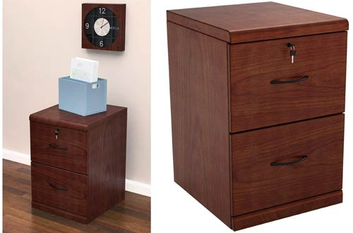 Z-Line Designs 2-Drawer Vertical Wood File Cabinets with Black Accents