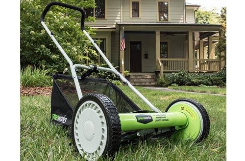 Greenworks 16-Inch Reel Lawn Mowers with Grass Catcher