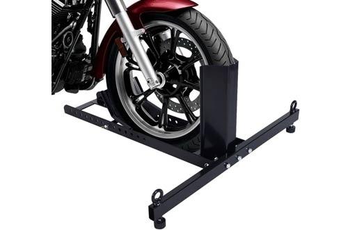 Goplus Adjustable Motorcycle Wheel Chocks - 1800lb Weight Capacity