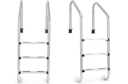 Goplus Swimming Pool Ladders in Ground Pool Steps