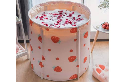 KELIXU Portable Bathtub - Foldable Soaking Bathtubs for Shower Stall