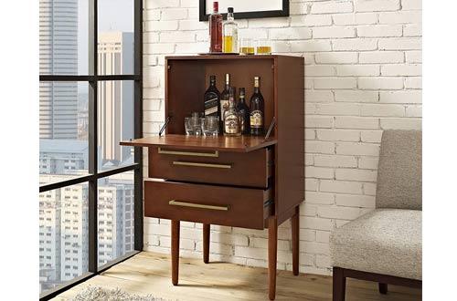 Crosley Furniture Everett Spirit Bar Cabinets - Vintage Mahogany