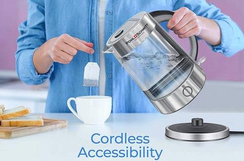 Pohl Schmitt 1.7L Glass Electric Kettles -Glass Water Boiler & Tea Heater