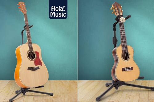 Hola Music Guitar Stands for Acoustic, Classical, Electric & Bass Guitars