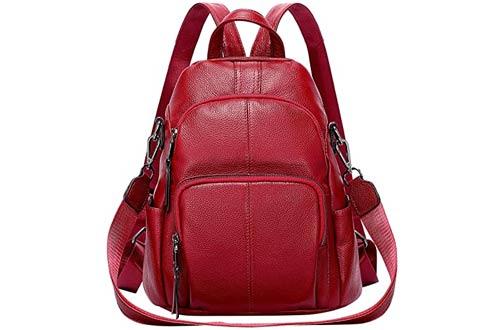 ALTOSY Women's Leather Backpack Purses - Anti-theft Backpacks Versatile Shoulder Bag