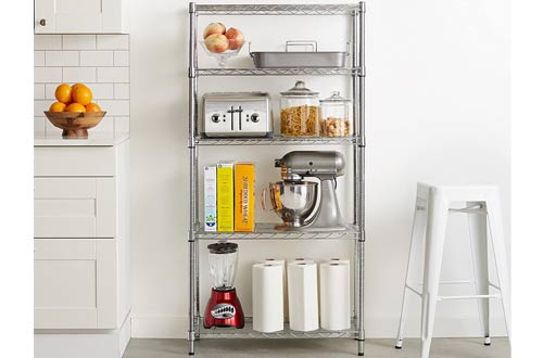 AmazonBasics 5-Shelf Storage Shelving Unit -Steel Organizer Wire Rack