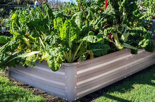 FOYUEE Galvanized Raised Garden Beds for Vegetables - Outdoor Metal Planter Boxes