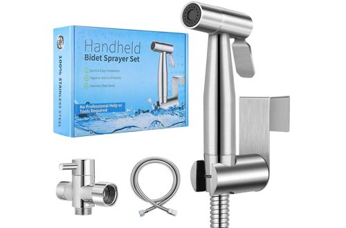 PugrweiPremium Stainless SteelHandheld Bidet Toilet Sprayers