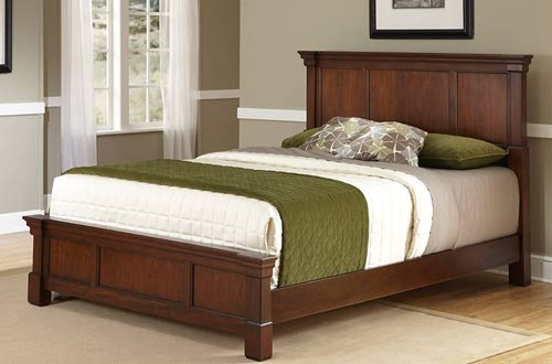 Home Styles Aspen Rustic Cherry King Wooden Bed Frame