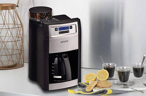 KRUPS Built-in Grind and Brew Coffee Maker -10-Cups