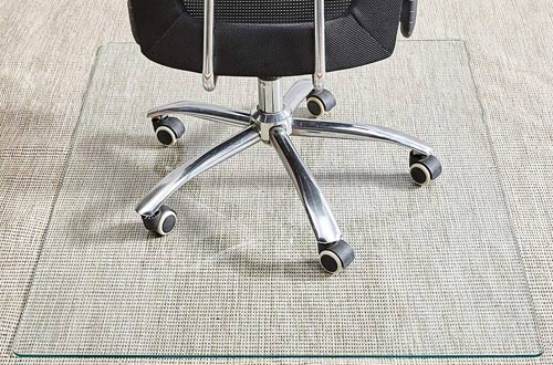 Glass Office Chair Mat for Carpet and Hardwood Floor