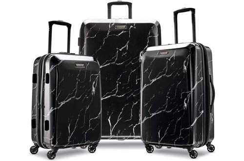American Tourister Moonlight Hardside Expandable Luggage Set with Spinner Wheels