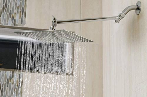 HarJue Rainfall Square Rain Shower Heads with Shower Arm