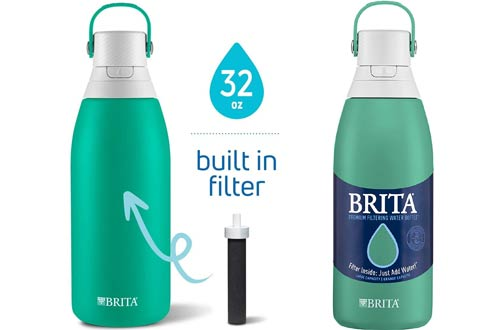 Brita 32 oz Insulated Stainless Steel Water Bottle with Filter