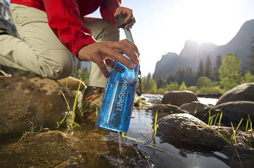 LifeStraw Go Filtered Water Bottle with Straw