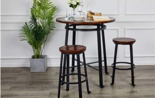 Ball & Cast Brown Rustic Height Bar Tables