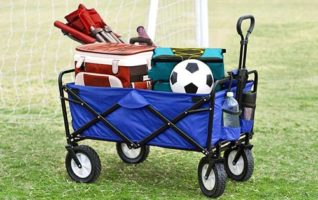Mac Sports Collapsible Folding Utility Wagon for Beach & Outdoor