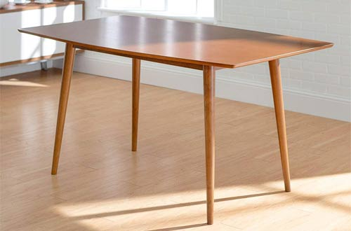 Wood Rectangle Kitchen Dining Table