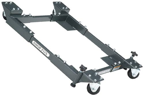 Shop Fox D2057A Small Adjustable Mobile Bases on Wheels