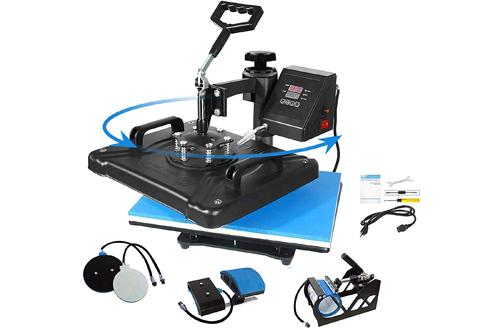 Aonesy Pro Combo Heat Press Machines for T-Shirt, Hat, Cap, Mug Plate