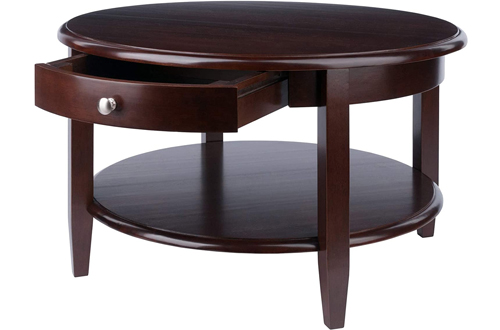 Winsome Round Wood Coffee Tables with Storage