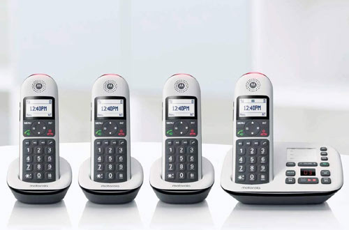 Motorola CD5014 DECT 6.0 Cordless Phones with Answering Machine