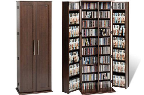 Espresso Grande Locking Media Cabinet with Doors