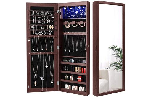 Nicetree LEDs Jewelry Armoire Organizer